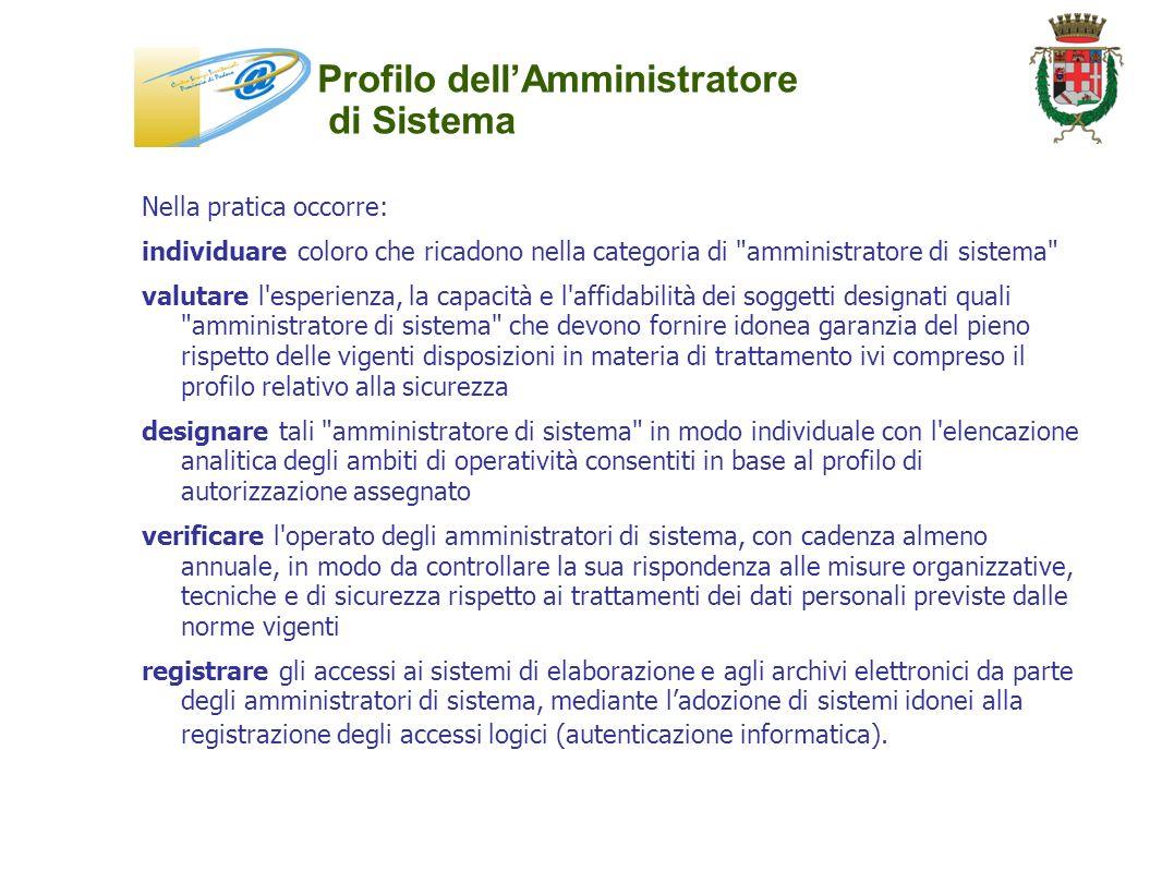 Profilo dell'Amministratore di Sistema