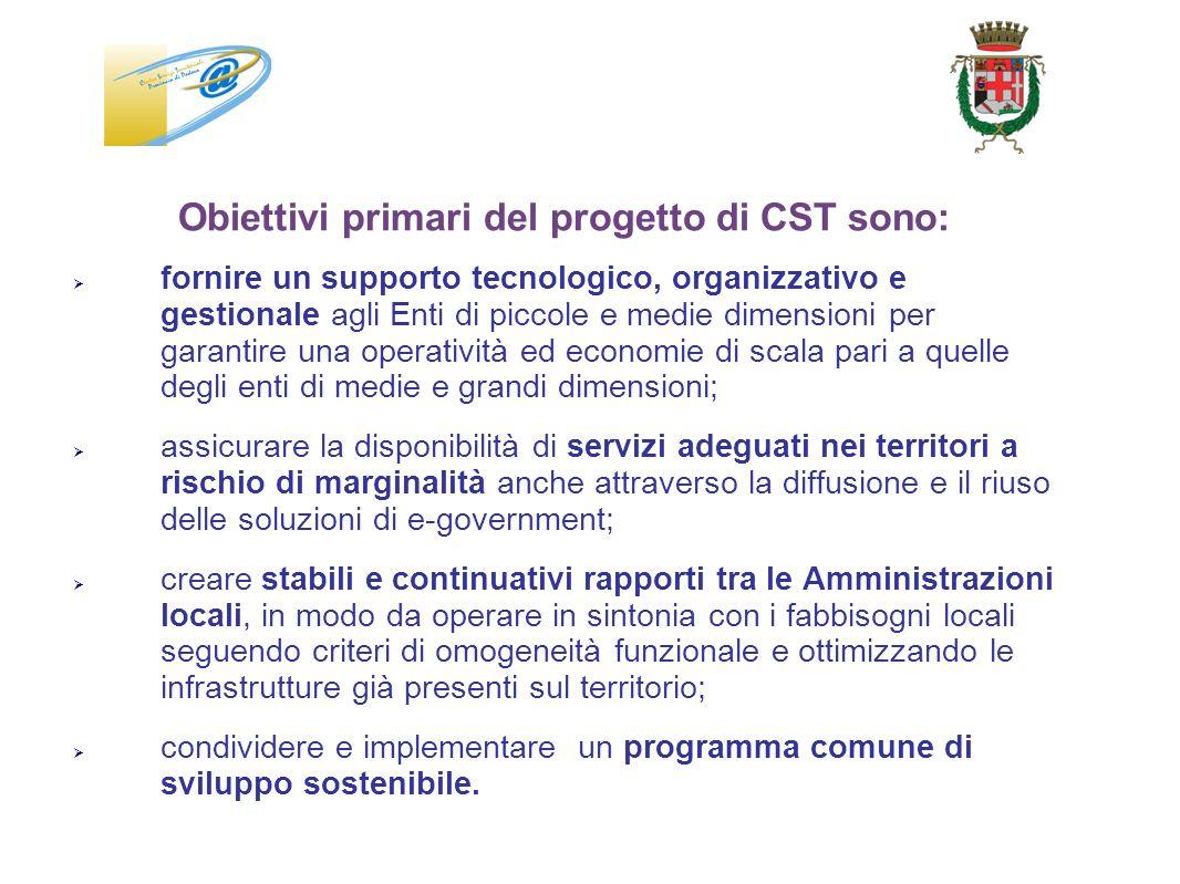Obiettivi primari del progetto di CST sono:
