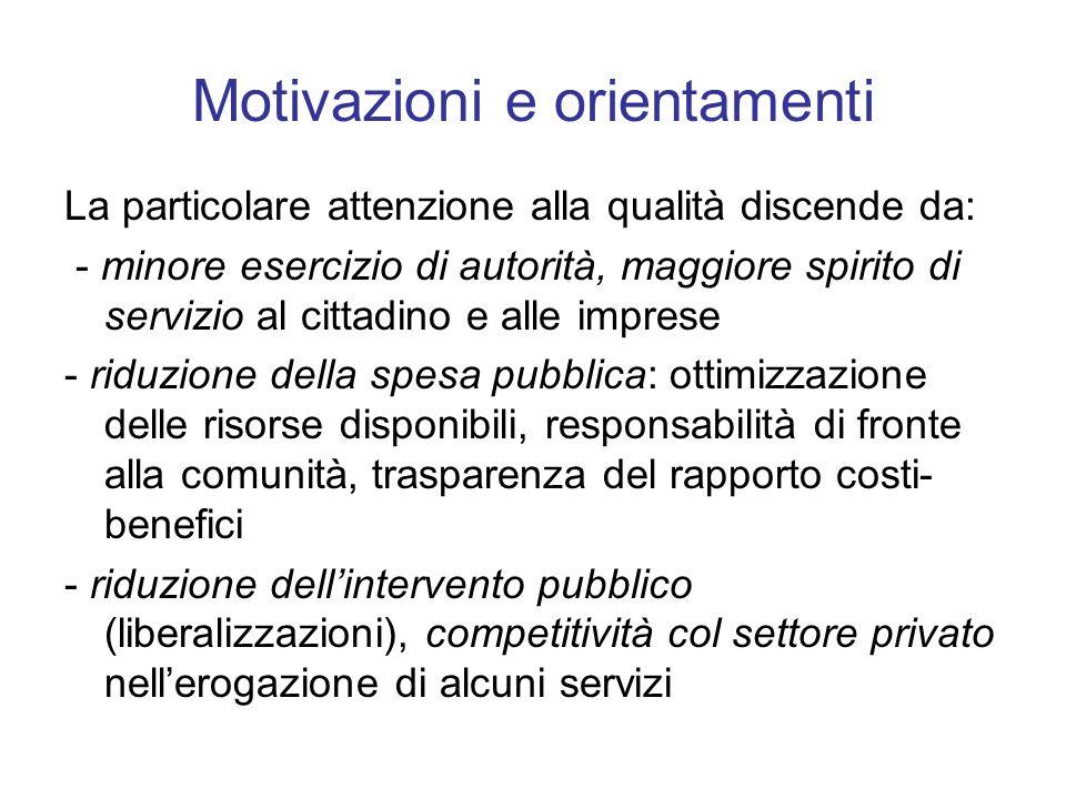 Motivazioni e orientamenti