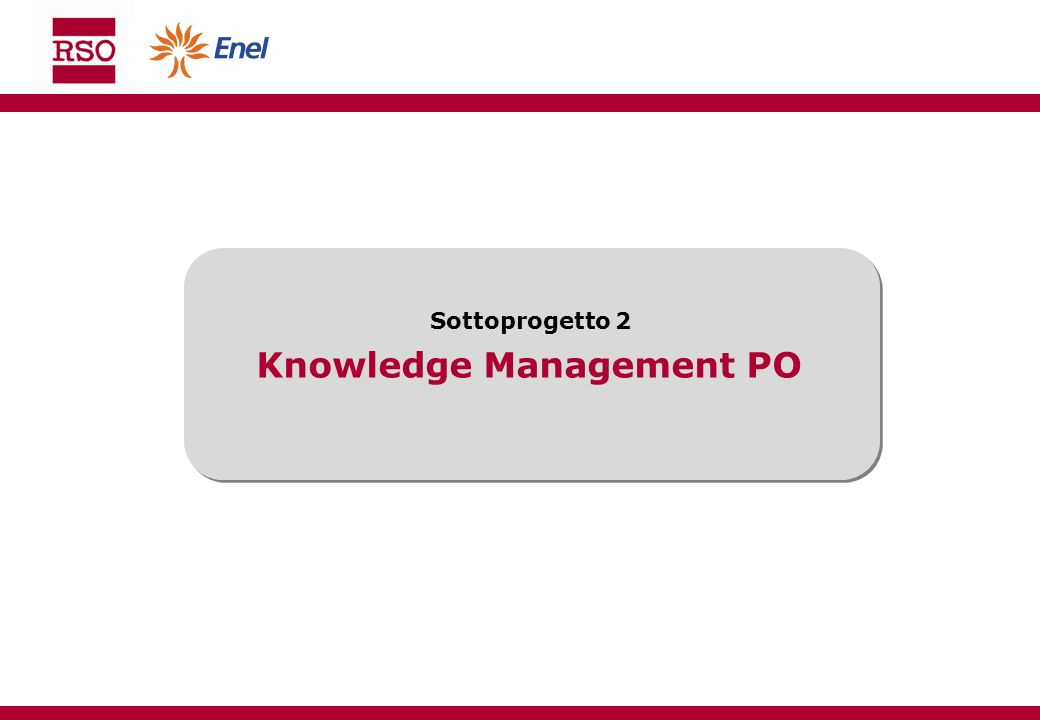 Knowledge Management PO