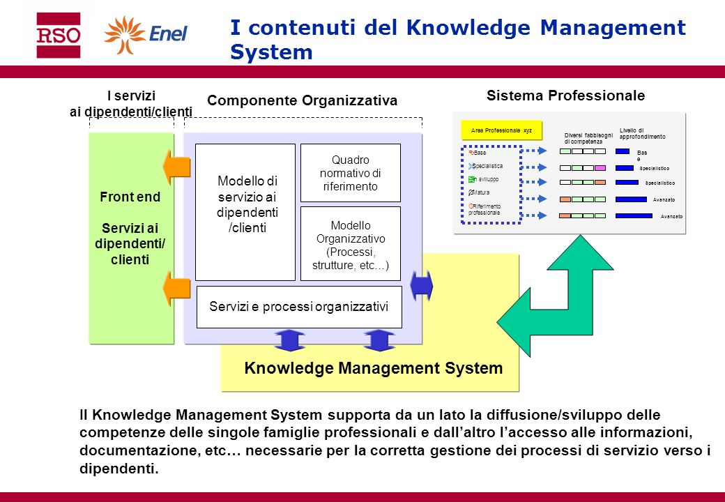 I contenuti del Knowledge Management System