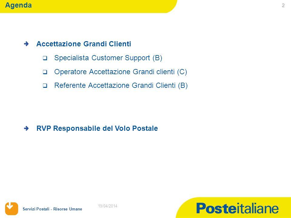 Accettazione Grandi Clienti Specialista Customer Support (B)
