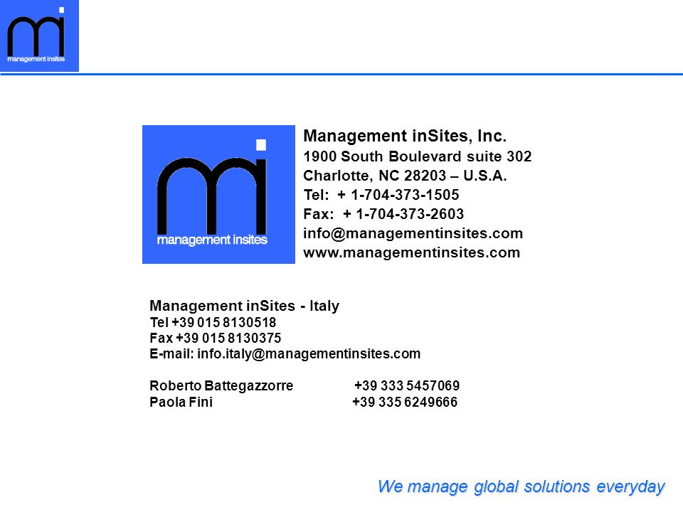 Management inSites, Inc.