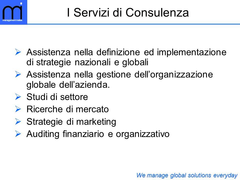 I Servizi di Consulenza