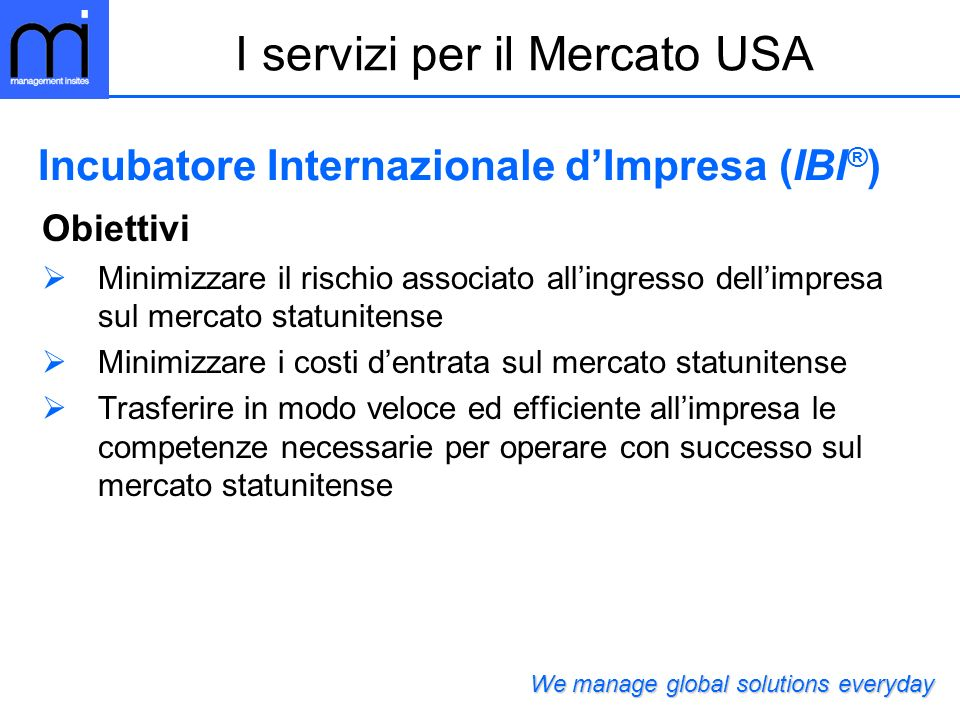 Incubatore Internazionale d'Impresa (IBI®)