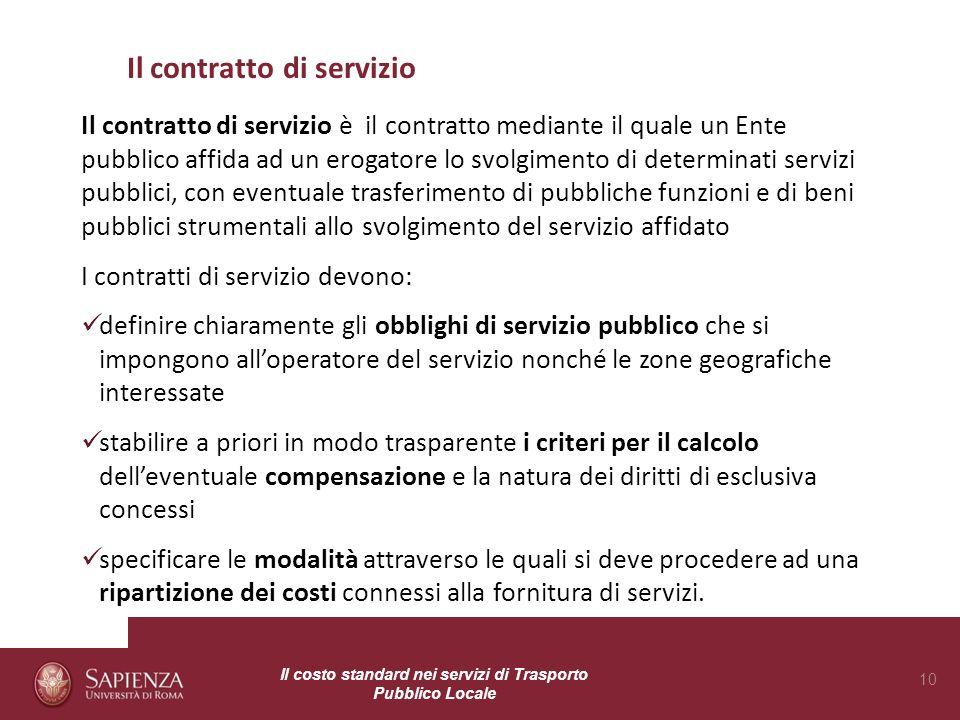 Il contratto di servizio