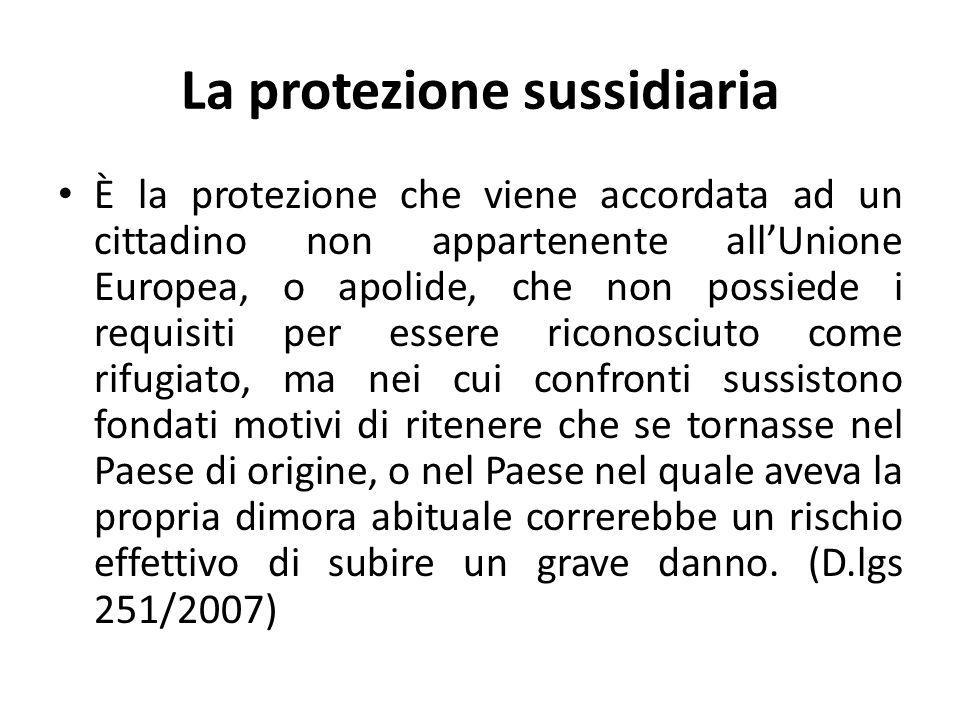 La protezione sussidiaria