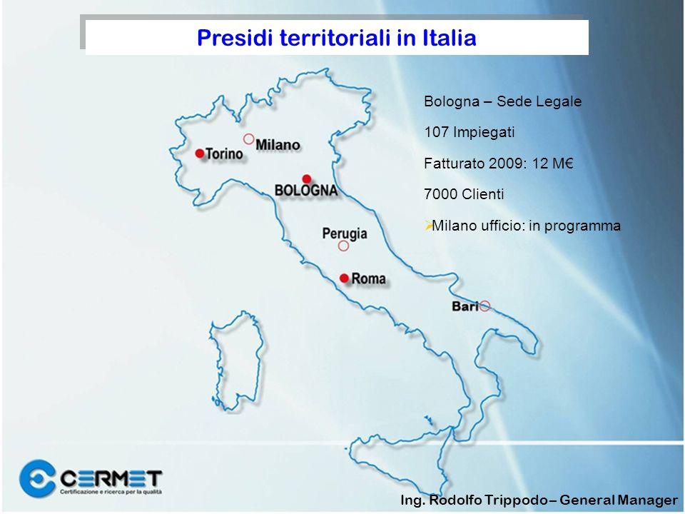 Presidi territoriali in Italia