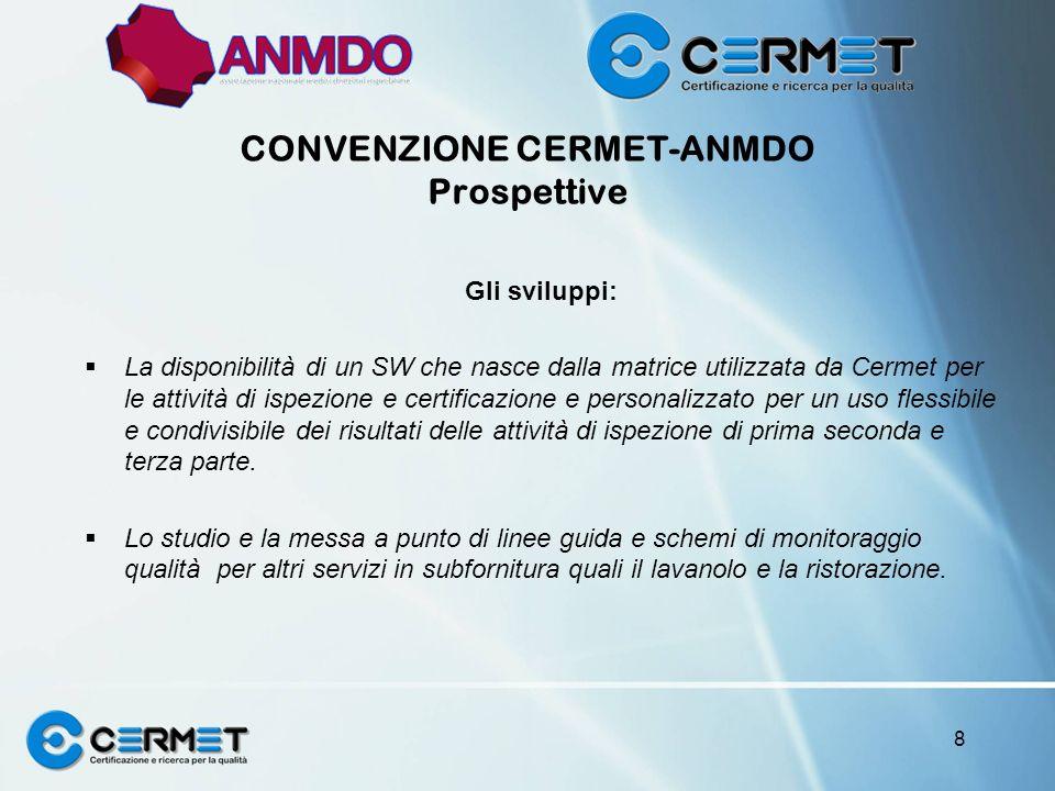 CONVENZIONE CERMET-ANMDO Prospettive