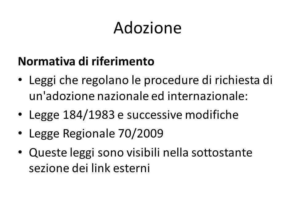 Adozione Normativa di riferimento