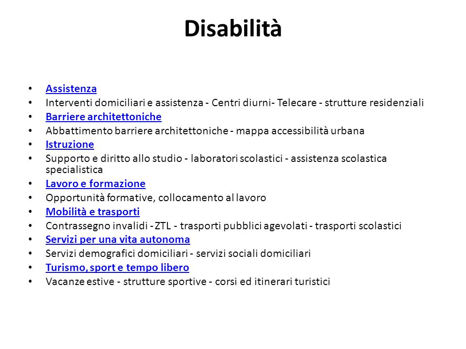 Disabilità Assistenza