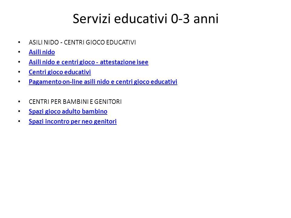 Servizi educativi 0-3 anni
