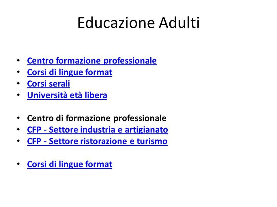 Educazione Adulti Centro formazione professionale