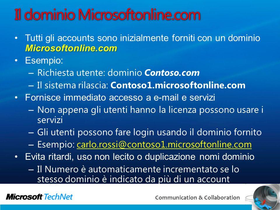 Il dominio Microsoftonline.com