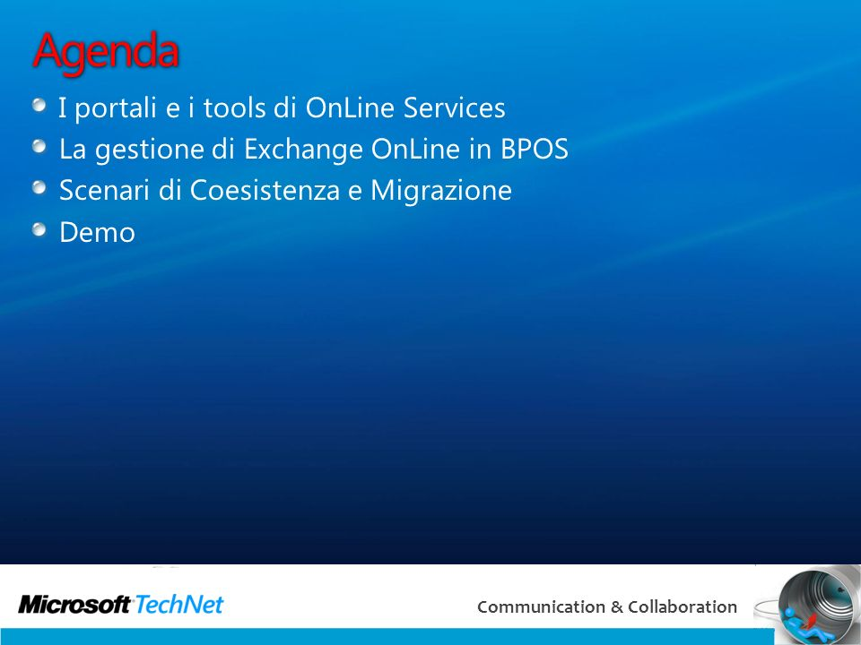 Agenda I portali e i tools di OnLine Services