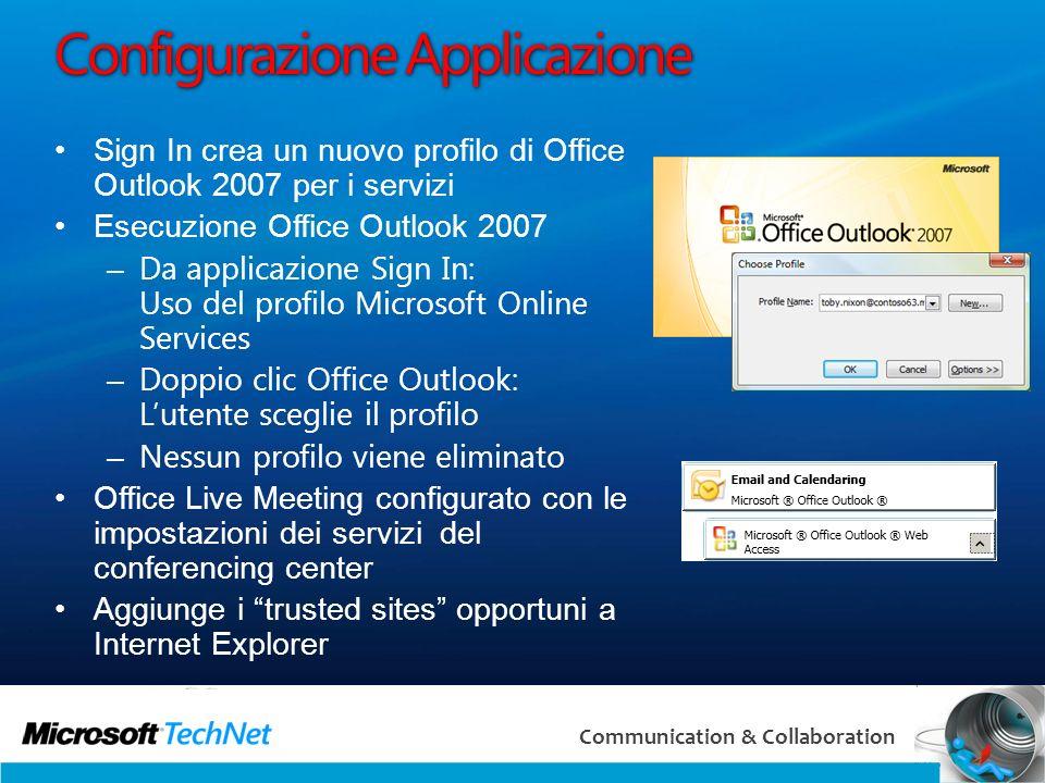 Configurazione Applicazione