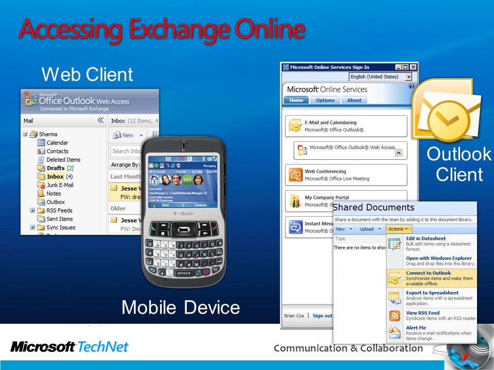 Accessing Exchange Online