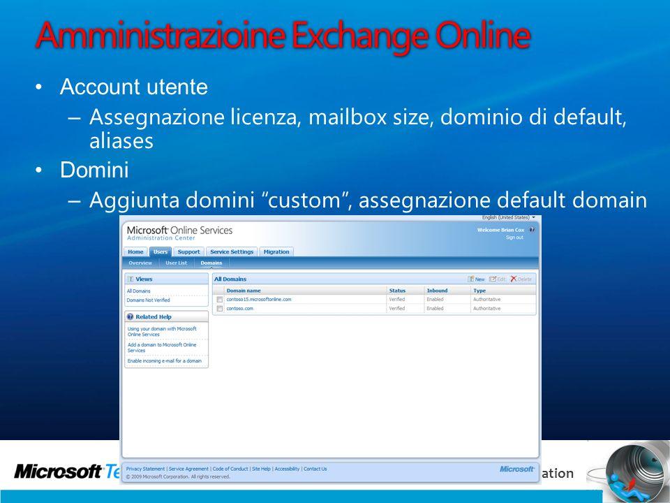 Amministrazioine Exchange Online