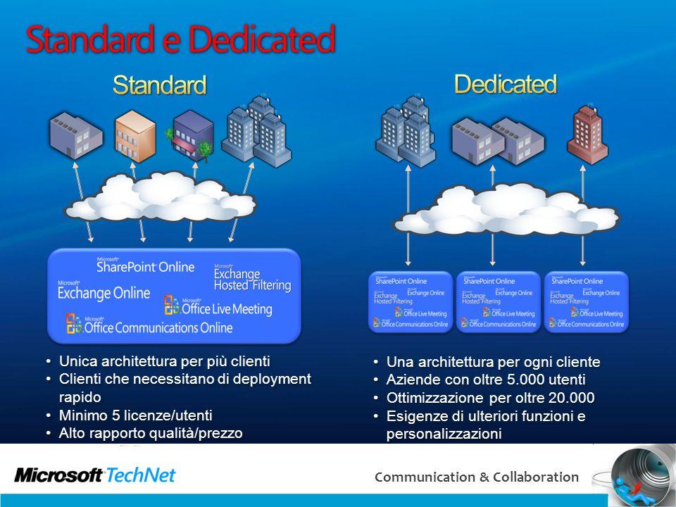 Standard e Dedicated Standard Dedicated