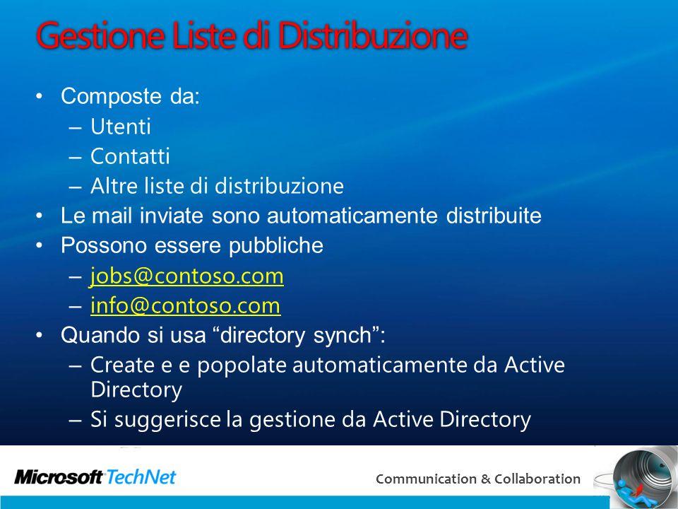 Gestione Liste di Distribuzione
