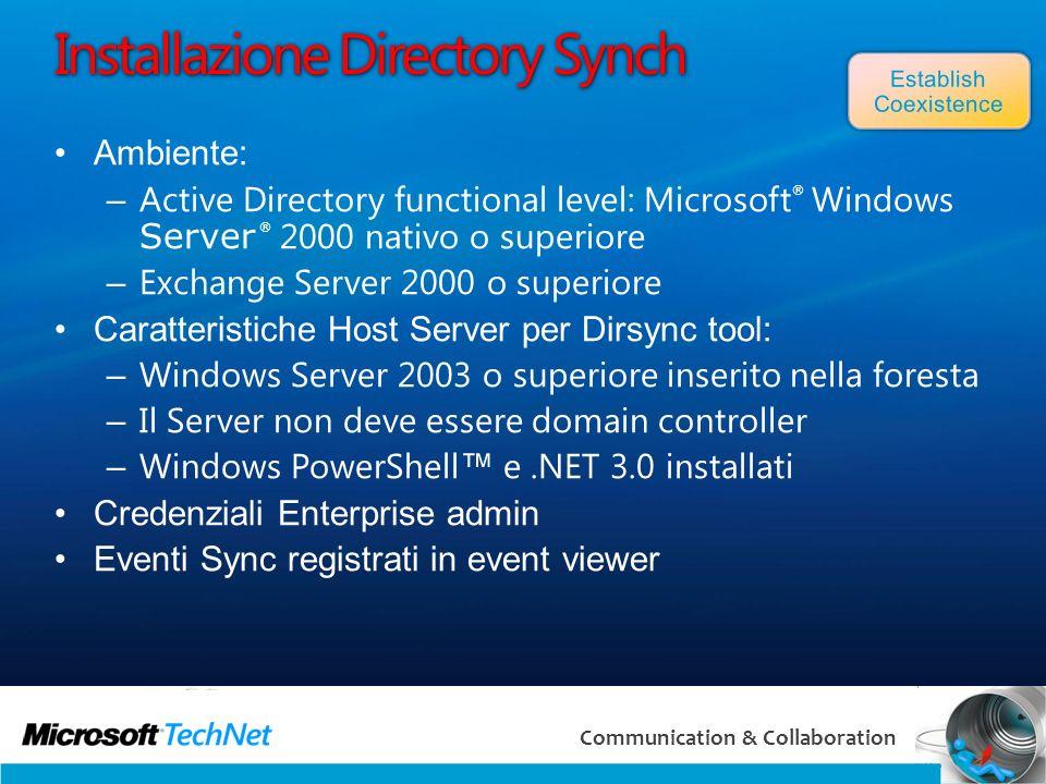 Installazione Directory Synch