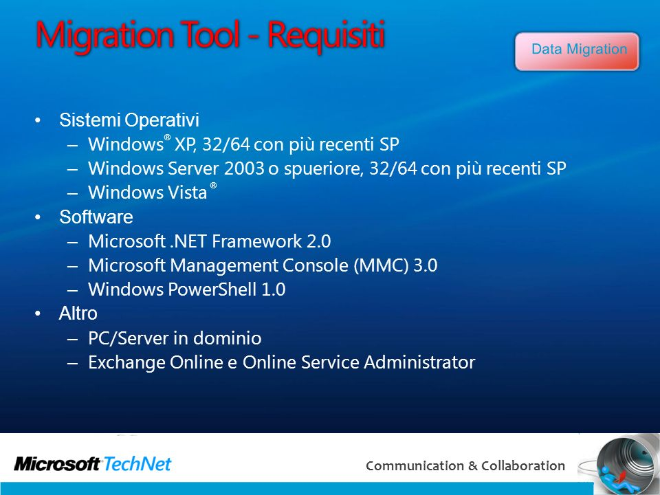 Migration Tool - Requisiti