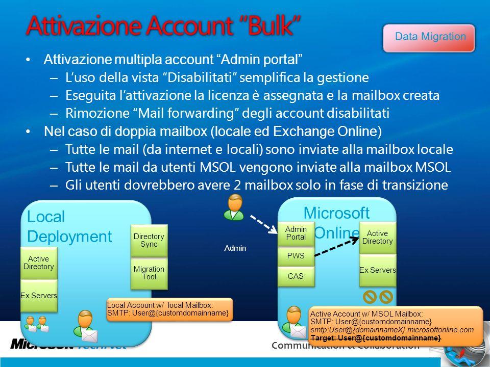 Attivazione Account Bulk