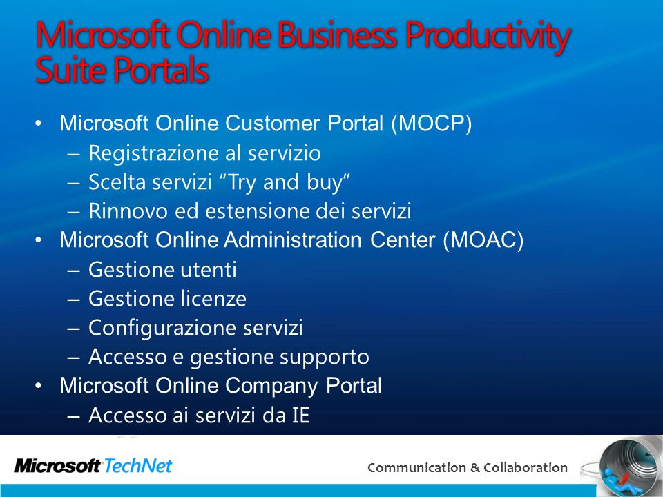 Microsoft Online Business Productivity Suite Portals