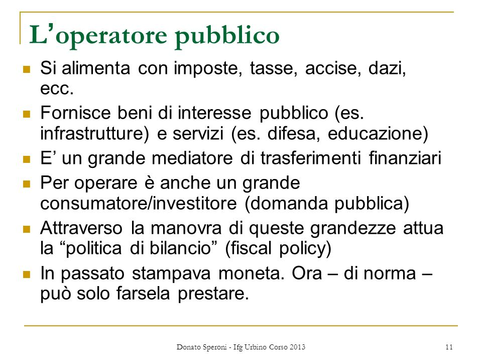 Donato Speroni - Ifg Urbino Corso 2013