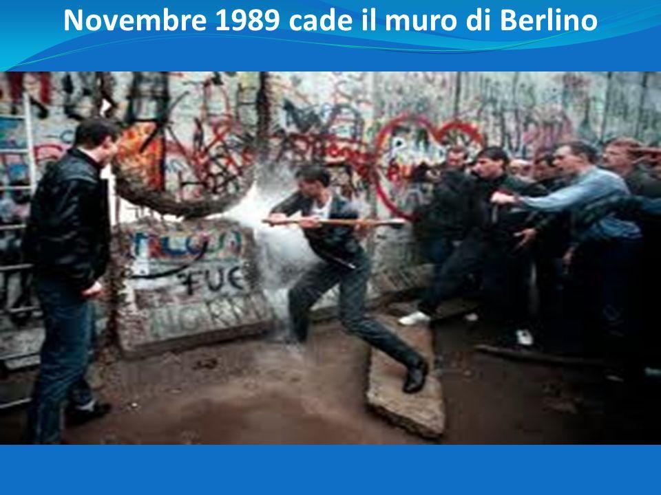 Novembre 1989 cade il muro di Berlino