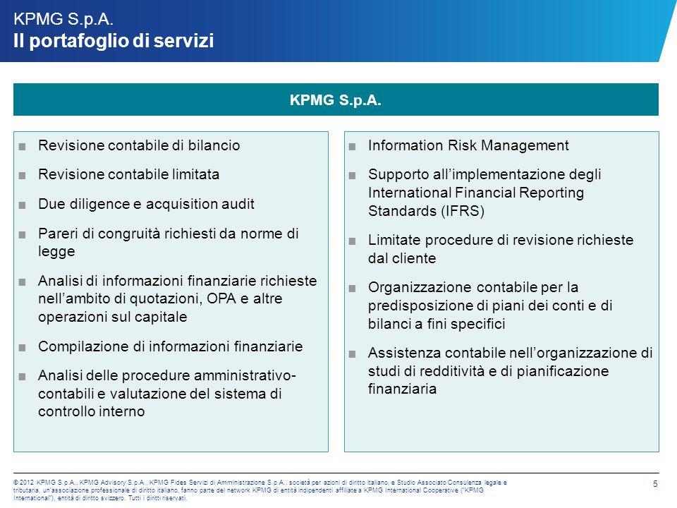 KPMG Advisory S.p.A. Advisory Services
