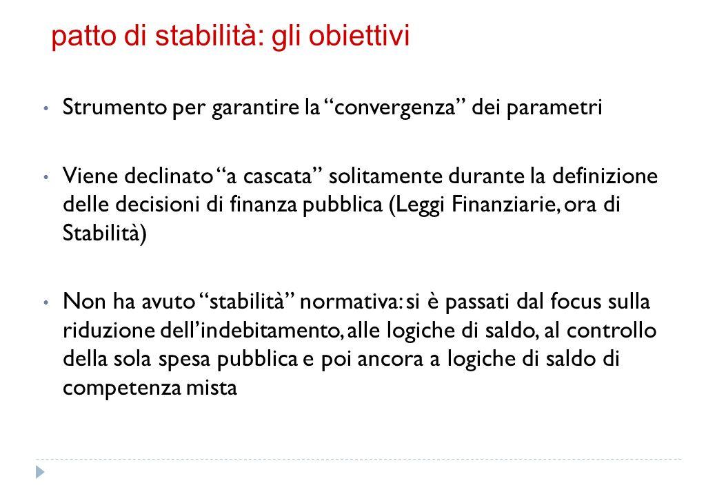patto di stabilità – la competenza mista