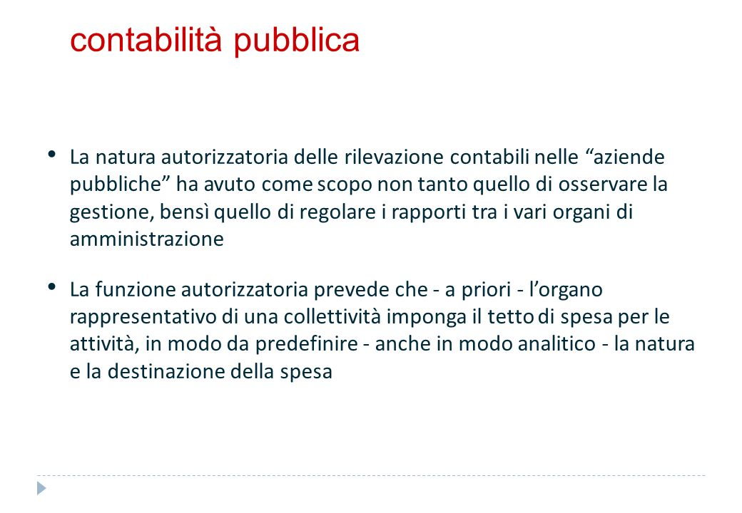contabilità pubblica