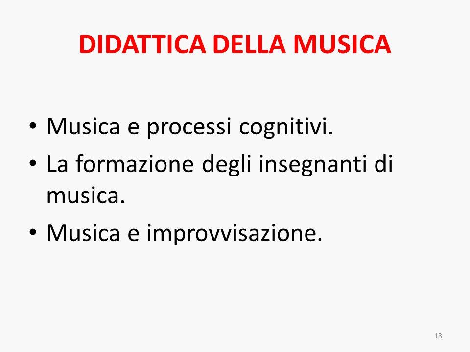 DIDATTICA DELLA MUSICA