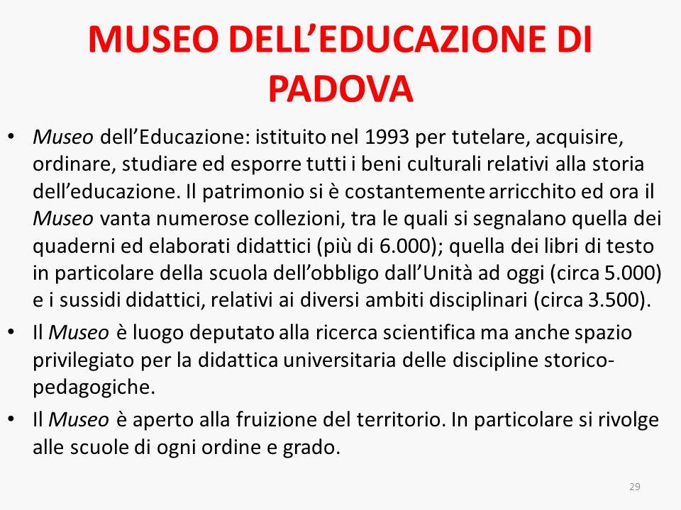 MUSEO DELL'EDUCAZIONE DI PADOVA