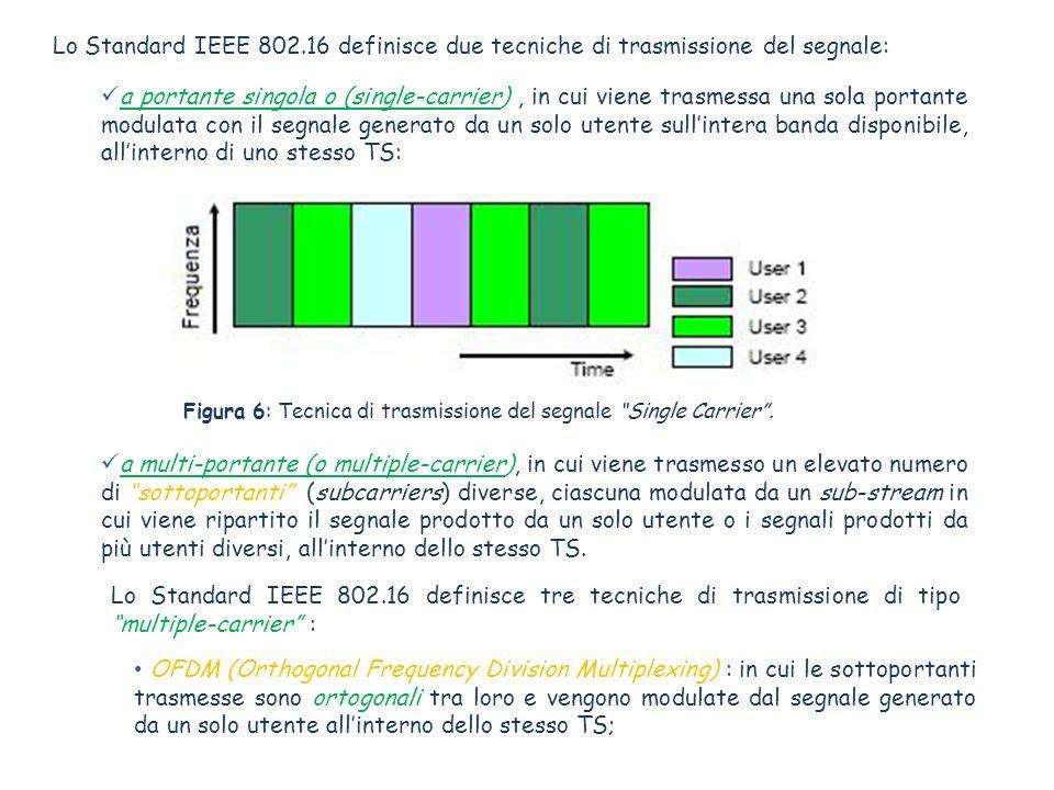 Lo Standard IEEE 802.16 definisce due tecniche di trasmissione del segnale: