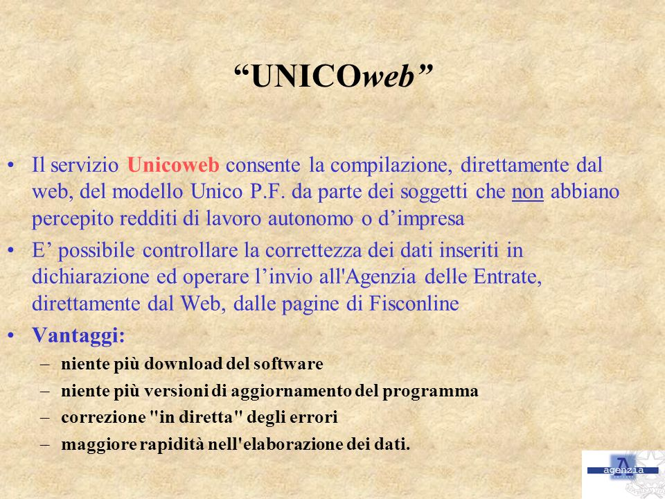 UNICOweb
