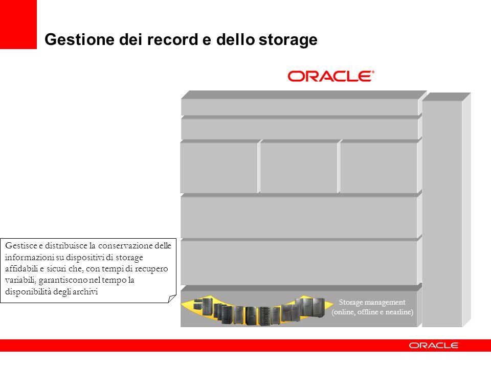 Gestione dei record e dello storage