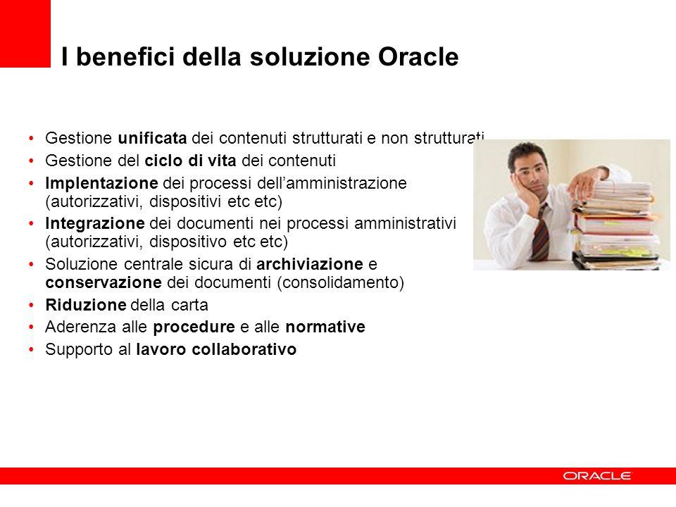 I benefici della soluzione Oracle