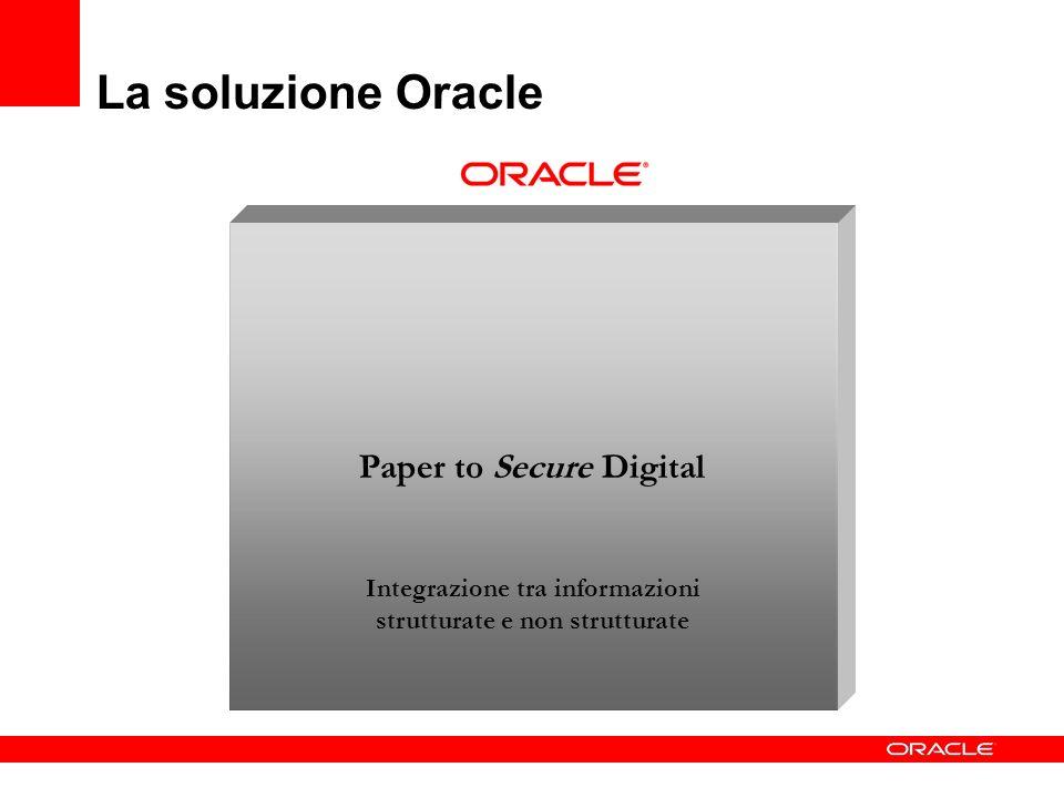 La soluzione Oracle Paper to Secure Digital