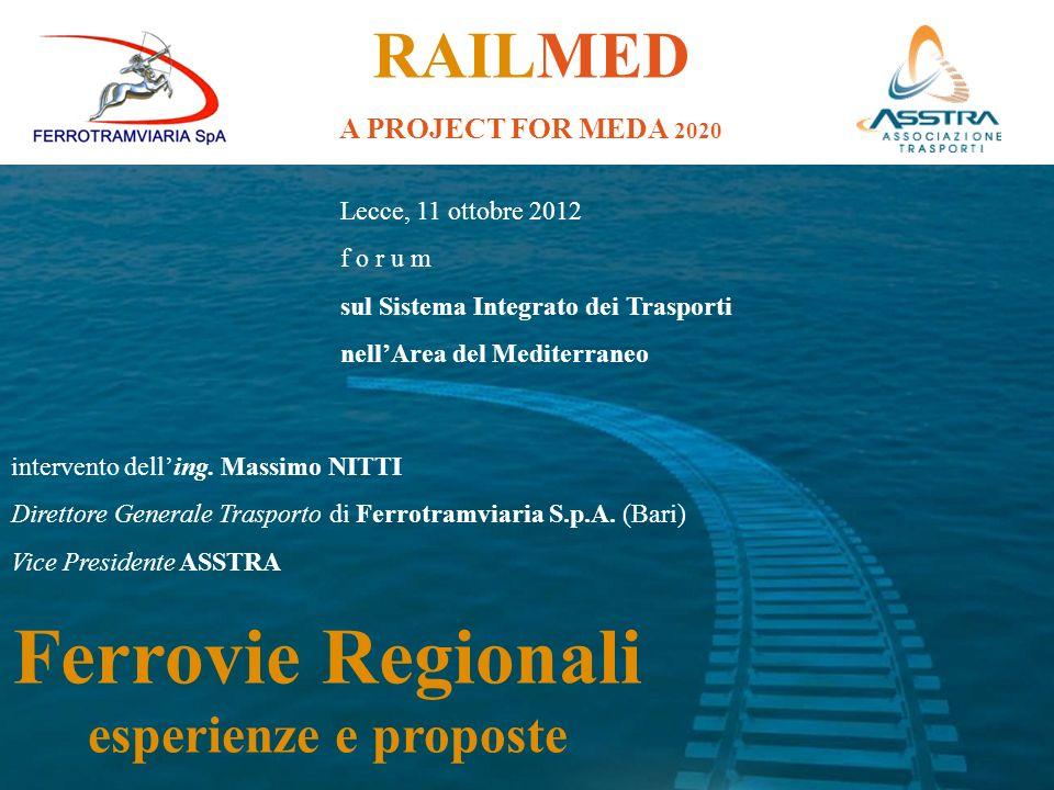 Ferrovie Regionali RAILMED esperienze e proposte
