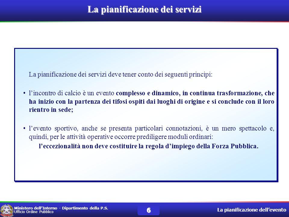 La pianificazione dei servizi