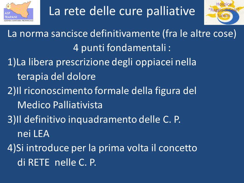 La rete delle cure palliative