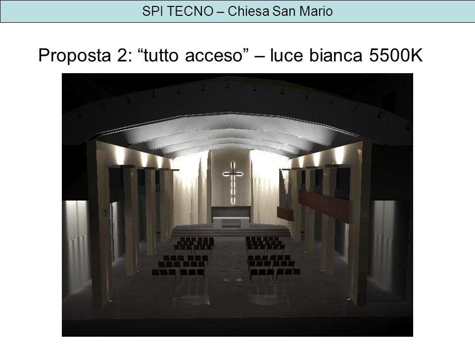 Proposta 2: tutto acceso – luce bianca 5500K
