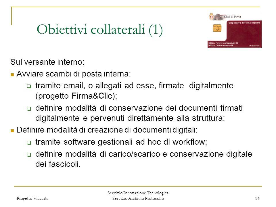 Obiettivi collaterali (1)