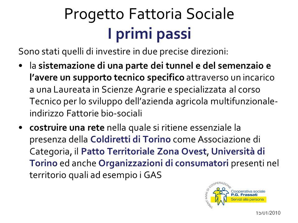 Progetto Fattoria Sociale I primi passi