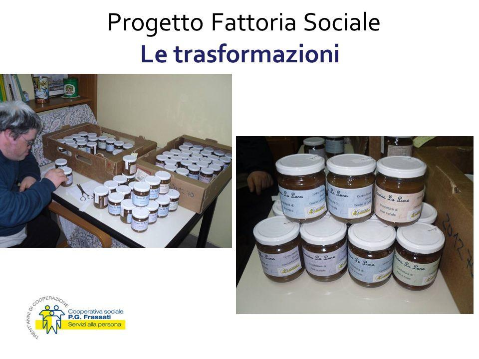 Progetto Fattoria Sociale Le trasformazioni