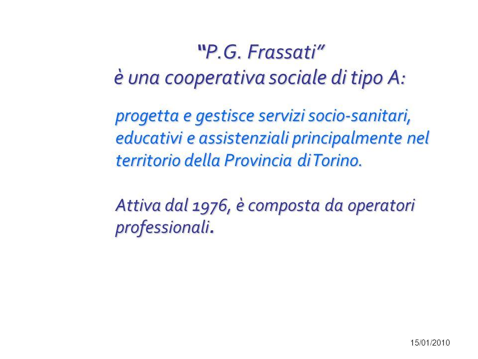P.G. Frassati è una cooperativa sociale di tipo A: