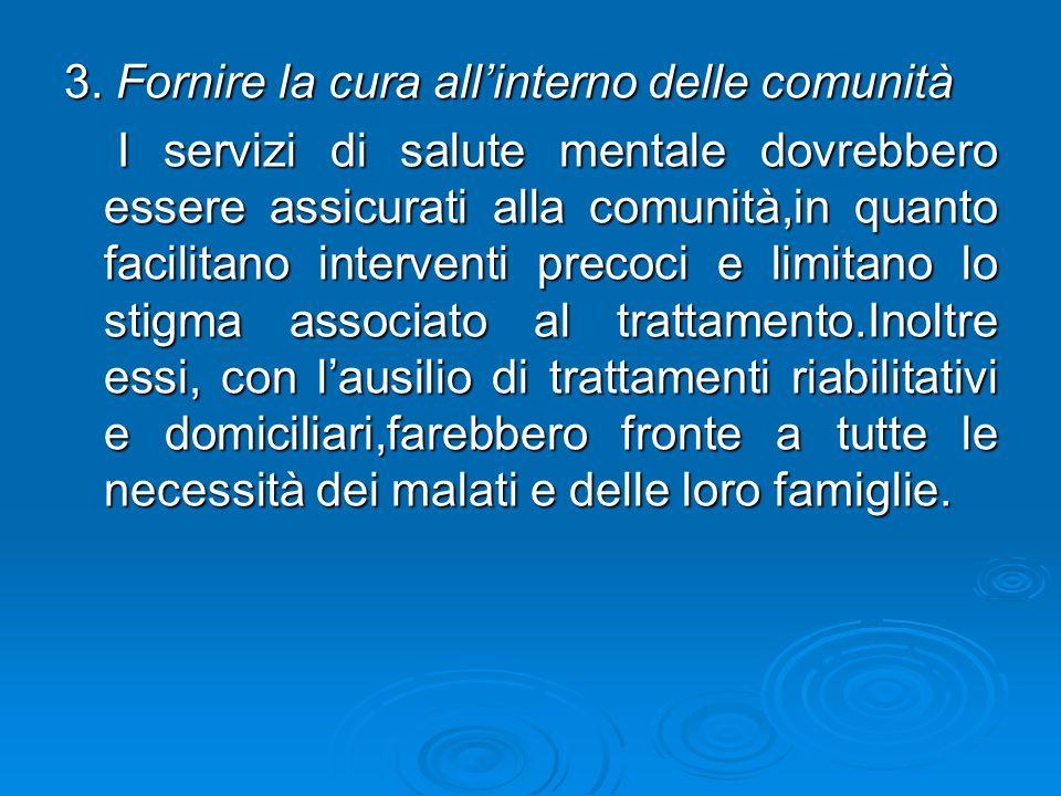 3. Fornire la cura all'interno delle comunità