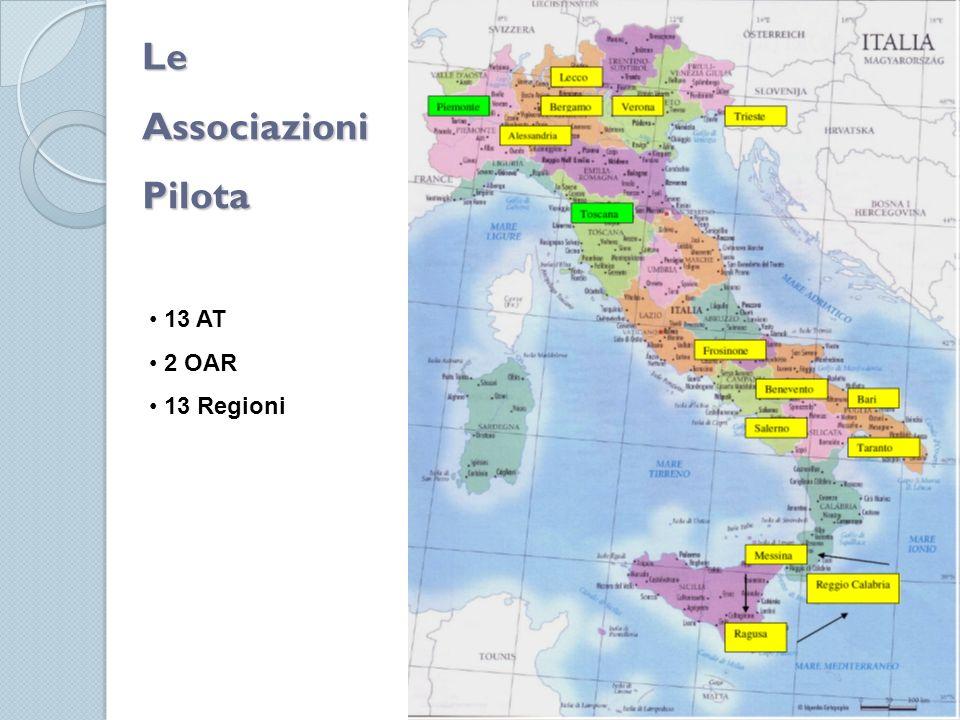 Le Associazioni Pilota 13 AT 2 OAR 13 Regioni